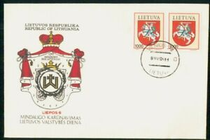 Mayfairstamps Lithuania FDC Coat of Arms Block First Day Cover wwk_47607
