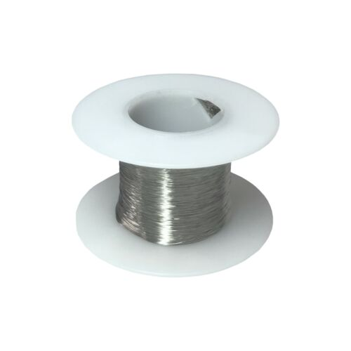 """36 AWG Gauge Stainless Steel 316L Wire 500/' Length 0.0050/"""" Diameter"""