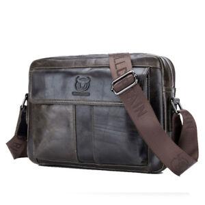 Men-039-s-Casual-Genuine-Leather-Handbag-Business-Briefcase-Messenger-Shoulder-Bag