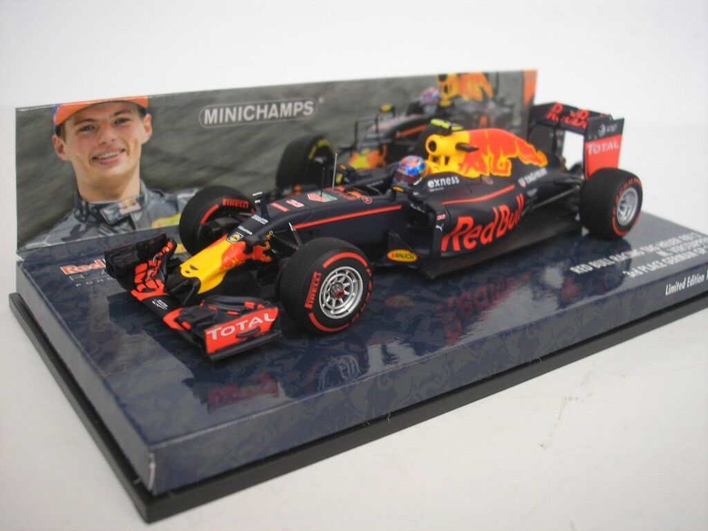 RED BULL RB12 GP GERMANIA 2016  33 Max Verstappen 1 43 Minichamps NUOVO