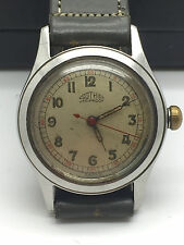 Vintage Gothic Jar Proof Manual Wind Military Style Watch Richmond Duralast Case