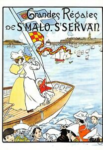 CP Poster Large Regatta Saint Malo Saint Servan Edit Mic Max 3059