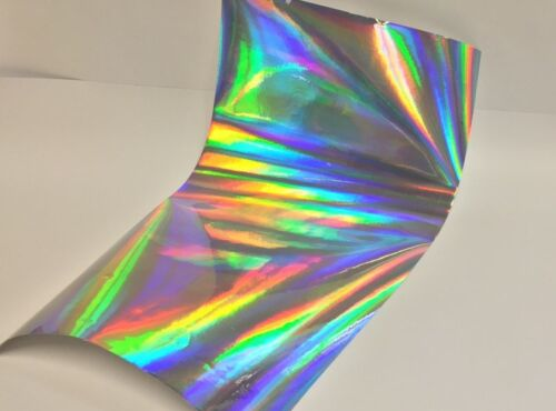 """Rainbow Holographic Sign Vinyl 12/"""" x 10 feet Free Shipping for USA Oil slick"""