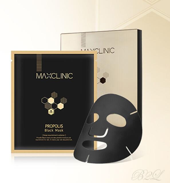 [MAXCLINIC] Propolis Black Mask 1,4,8 Sheets / Plentiful Moisture ,Nourishment
