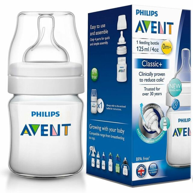 AVENT CLASSIC BPA FREE FEEDING BOTTLE 0M+ - 125ML