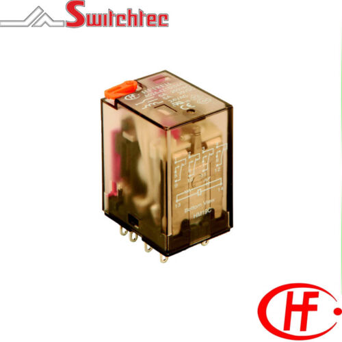 Hongfa HF18FH Series 4 Pole 5A Change Over Plug in relay 230VAC Coil