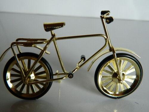échelle 1//12th petite maison de poupées Couleur Or Métal Vélo M4