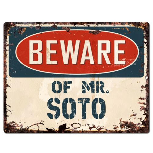 SOTO Plate Chic Sign Home Store Wall Decor Funny Gift PP2725 Beware of MR