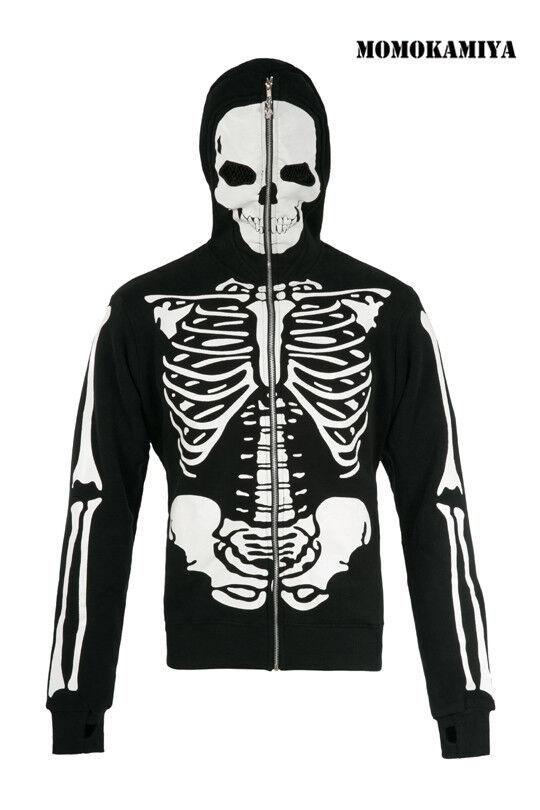 Lebende Tote Souls Jawbreaker Herren Skelett schwarzer Kapuzenpullover dhm0610