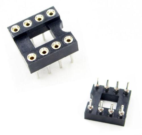 10pcs 8Pin DIP-8 SIP Round IC Sockets Adaptor Solder US