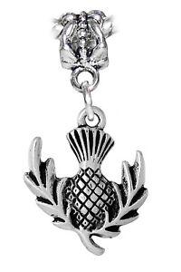 Pineapple-Scotland-Thistle-Flower-Dangle-Charm-for-Silver-European-Bead-Bracelet