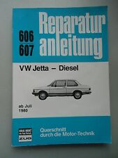Reparaturanleitung VW Jetta Diesel 606 / 607 ab Juli 1980 Querschnitt Motor-Tech