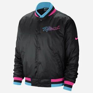 Nike NBA Miami Heat City Edition Courtside Veste Homme Noir Bleu Rose Outwear