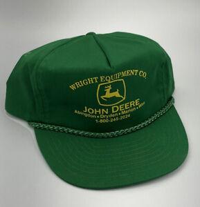 NEW BROWN John Deere Hat Cap Strap Back Trucker Farmer SOUTH TEXAS IMPLEMENTS