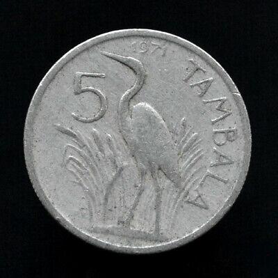 MALAWI 5 TAMBALA KM26 1995 HERON BIRD MULUZI UNC ANIMAL WILD LIFE MONEY COIN