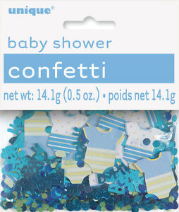 BABY-SHOWER-CONFETTI-BLUE-DOTS-amp-BIBS-FOR-TABLE-DECORATIONS-0-5oz-14g