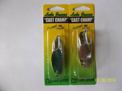6 X Luhr Jensen Cast Champ CHROME NICKEL 37 GRAMS = 1.3 OZ UNIVERSAL LURE