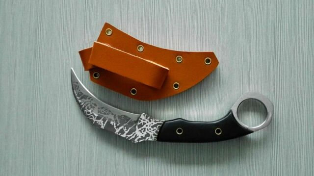 Tactical Karambit Military Survival Claw Bowie Combat Knife Machete With Sheath