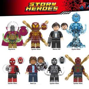 MARVEL-Spider-Man-Lejos-de-casa-Set-8-mini-figuras-spider-man-far-from-home