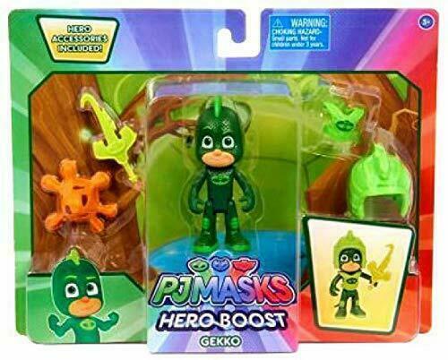 PJ Masks Hero Boost Figures With Accessories Set of 2 Gekko 3+ Catboy