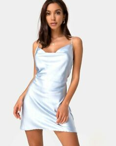 MOTEL-ROCKS-Paiva-Dress-in-Satin-Powder-Blue-Small-S-mr20