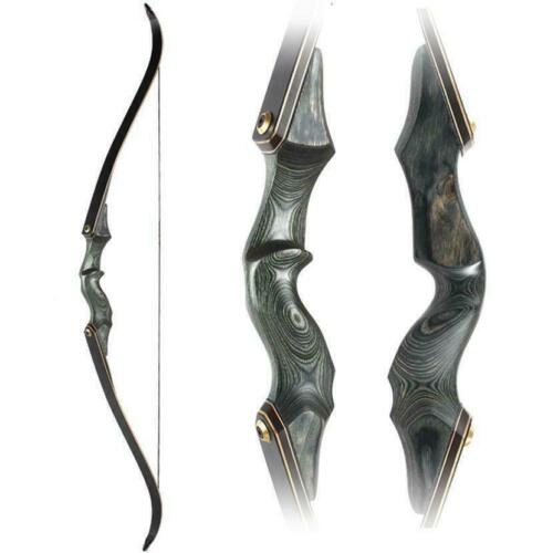 """60/"""" Archery Takedown 50lbs Recurve Bow Longbow Shooting Hunting Laminated Limbs"""