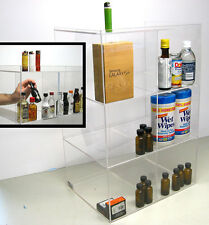 Commercial retail display case mini sampler 50ml liquor shot bottles airplane