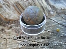 Old Rare Vintage Antique Civil War Relic Federal Eagle Button Appomattox VA Camp