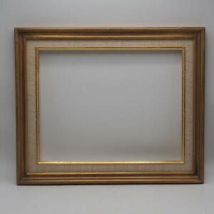 """Vintage Painted Gold Wood Picture Frame 14-1/2""""x17-3/4"""""""
