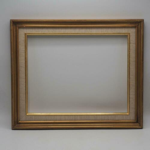 """Vintage Painted Gold Wood Picture Frame 14-1//2/""""x17-3//4/"""""""