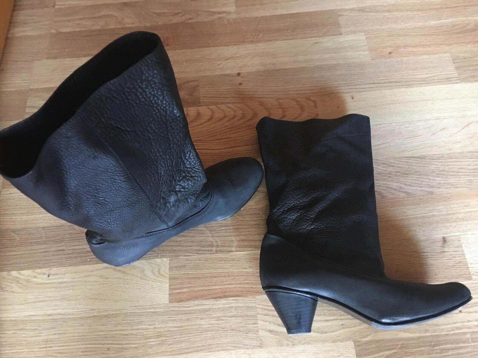 DCO Copenhagen - halbh. Stiefel - breiter Schaft - schwarz NW  Leder - Gr.40 - NW schwarz 14508e