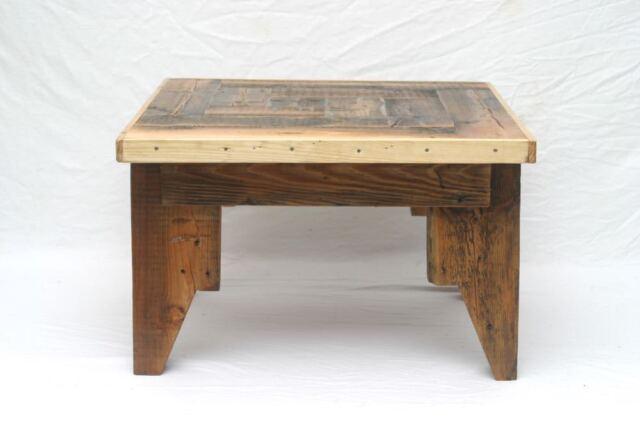 Altholz Upcycling Couchtisch Tisch Massivholz Kiefer rustikal Loft shabby 4
