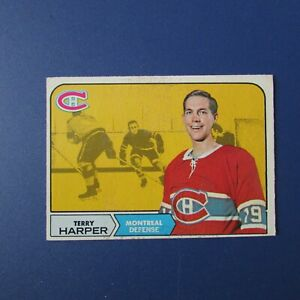 TERRY-HARPER-1968-69-O-Pee-Chee-57-OPC-Montreal-Canadiens-EX-68-69