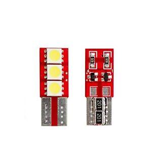 PEUGEOT-308-208-LIGHT-BULBS-LICENSE-PLATE-T10-MULTILED-NO-ERROR-6000K