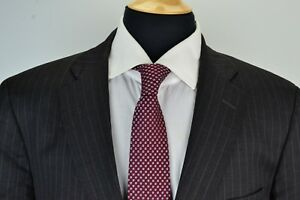 Brooks-Brothers-1818-Madison-Gray-Pinstriped-Wool-2-Piece-Suit-Jacket-Pants-44R