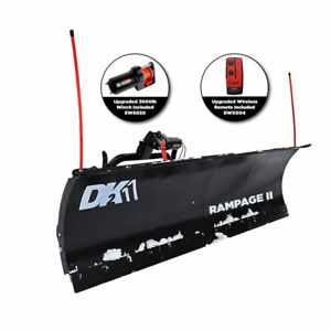 Detail K2 Rampage II 82 in. x 19 in. Custom Mount Snow Plow Kit RAMP8219