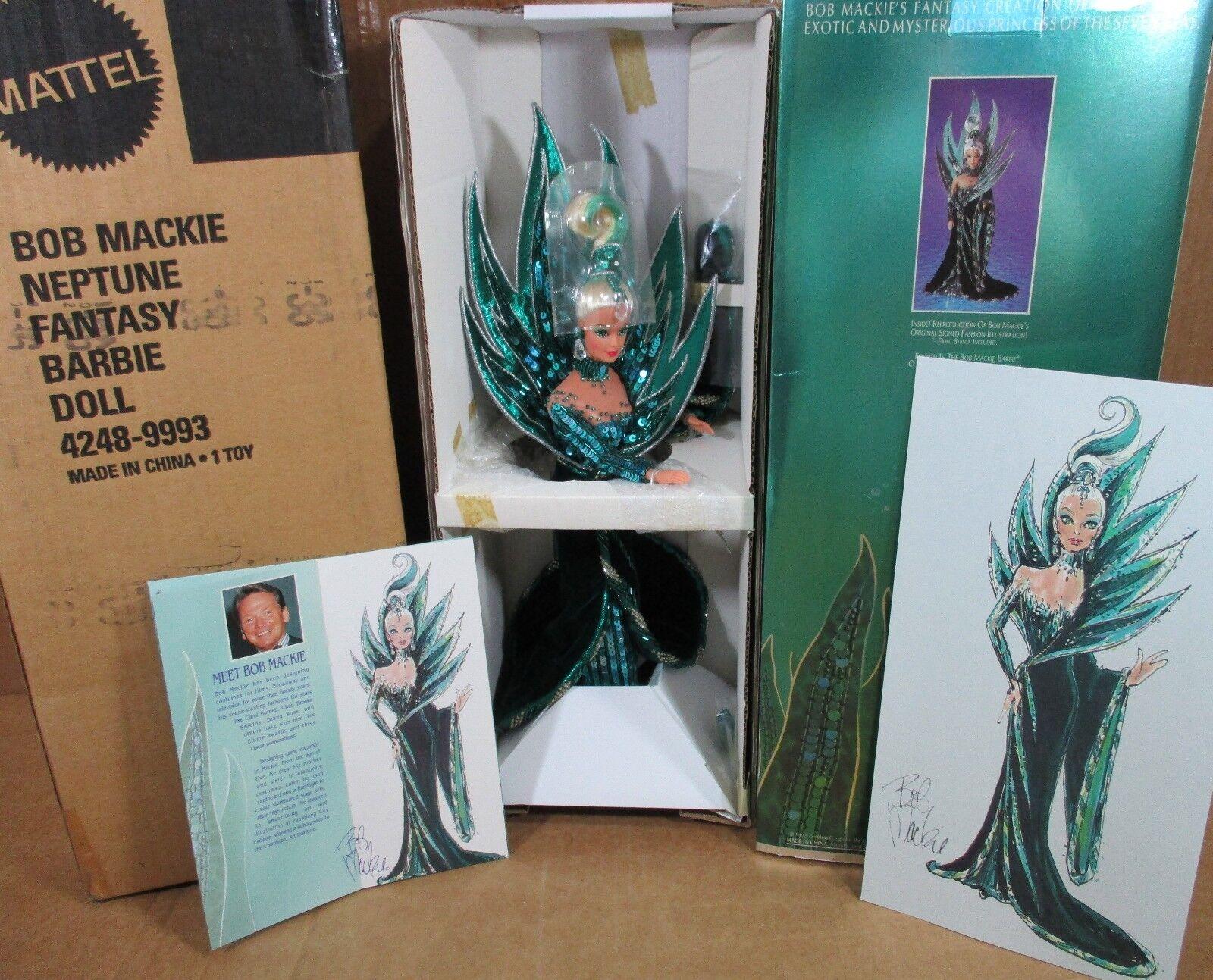 Bob Mackie Neptuno Fantasía Muñeca Barbie Princesa De Siete Mares remitente Nuevo En Caja