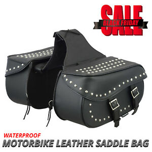 Details about Motorcycle Saddle Bags Motorbike Leather Luggage Saddle Bags  Pannier Universal 95b9167225d00