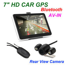 "7"" Navegador GPS Coche Bluetooth AV-IN + Wireless Cámara Reversa 2015 Mapa EU"