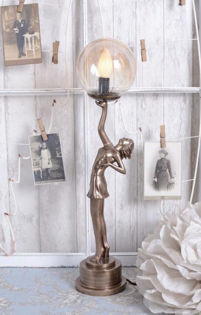 Lampe de Table Art Deco Danseuse Lampe Art Nouveau Style