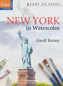 New-York-in-Watercolor-Paperback-by-Kersey-Geoff-Brand-New-Free-shipping