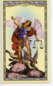ST-MICHAEL-SPIRITUAL-ARMOR-PRAYER-Laminated-Holy-Cards-QUANTITY-25-CARDS
