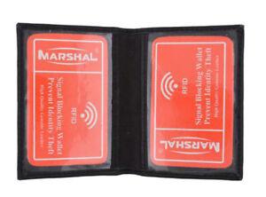 RFID-Blocking-Black-Mens-Leather-Bifold-Wallet-2-ID-Front-Pocket-Card-Holder
