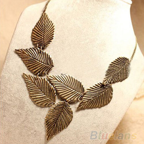 B52U Womens Bohemia Leaves Pendant Sweet Bib Chain Choker Necklace Patry Jewelry