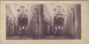 Cattedrale Da Pisa Italia Stereo Vintage Albumina Ca 1865