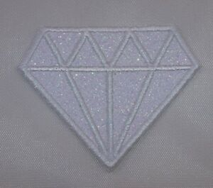 Embroidered-Glitter-White-Diamond-Crystal-Gem-Applique-Jacket-Patch-Iron-On-USA