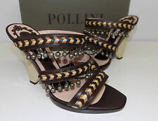 sandali donna studio pollini in pelle marrone 40 firmati sandal
