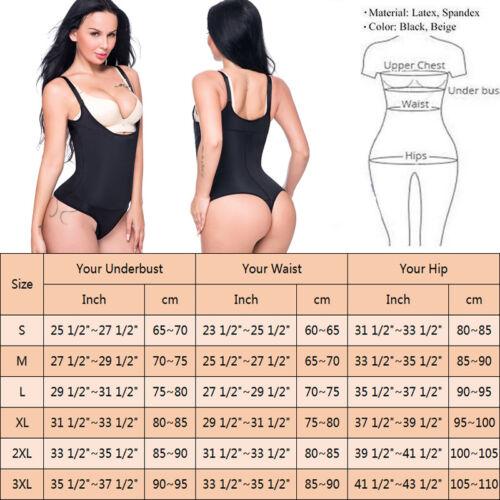UK Fajas Thong Slip Suits Adjustable Straps Full Body Shaper Underbust Shapewear