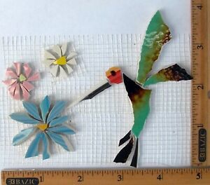 Hummingbird-amp-Flowers-Mosaic-Tiles-Broken-Cut-China-Plate-Tiles