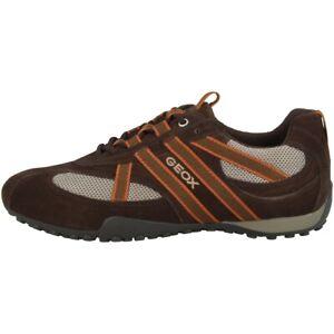 Dettagli su Geox U Snake S Scarpe Uomo Tempo Libero Sneakers Basse Marrone U2207SA2214C0021